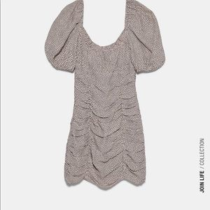 Polka dot draped dress Zara size L